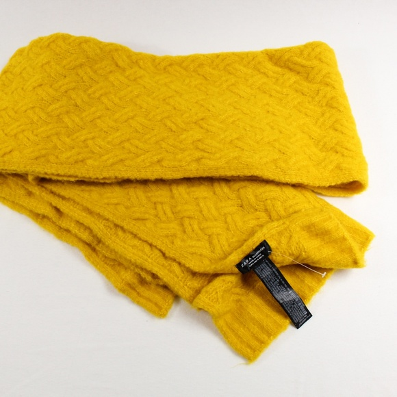 Zara Mustard Yellow Scarf NWOT